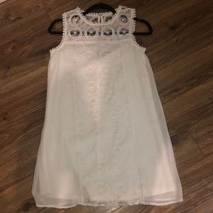 City Studio White Dress w/ Lace Detail